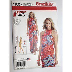 UNCUT Simplicity 1100 sewing pattern wrap dress